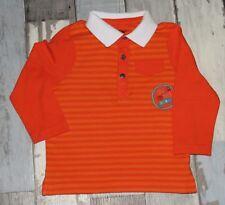~ Superbe Polo ML orange ORCHESTRA garçon 12 mois 74cm ~ EST177