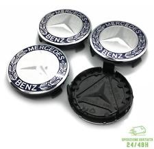 4 Tappi Coprimozzo Per MERCEDES CLASSE A B C E CLA CLK ML S Cerchi in Lega 75 mm