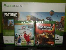 Microsoft Xbox One S 1TB Fortnite Console Bundle - White