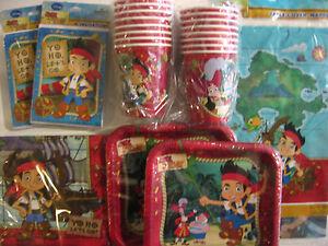 Jake & Die Nimmerland Piraten Disney Geburtstagsparty Angebot Set Packung W /