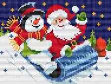 Santa & Snowman Cross Stitch Chart