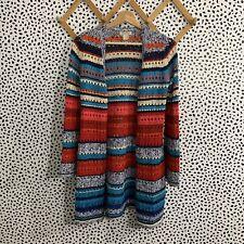 Lucky Brand Sweater Rainbow Boho Long Cardigan XS