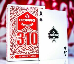 Copag 310 Red Deck Playing Cards Poker Magic Made in Europe NEW