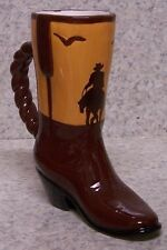 Coffee Mug Cowboy Boot Sunset Rider NEW 8 ounce cup with gift box