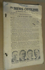 "Sept 1928 Thru Jan 1929 ""The News Outline"" A Weekly News Brochure NYC + Ohio"