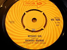 "ANTHONY BROWNE - WITHOUT HER     7"" VINYL"