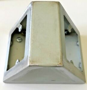 Industrial Look Worktop Workbench Desk Angled Twin Single Socket Metal Back Box
