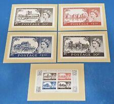 Set of 5 PHQ Stamp Postcards Set No.D28 1955 Castles Definitives 2005 IC5