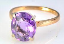 #070 Estate Purple Amethyst 14k & 18k Yellow Gold Bracelet Ring Set Not Scrap