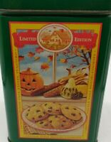 "Nestle Limited Edition Tin Can Toll House Cookie Pie Party Mix Green 6"" Vintage"