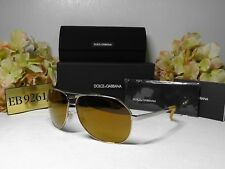 DOLCE & GABBANA DG2144 Iridium Gold Frame Mirrored Lens Sunglasses 61 12 135****
