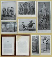 1904 RARE!  LOT OF 2 CLIPPINGS ABOUT JAPAN FROM RUSSIAN ANTIQUE MAGAZINES Photos