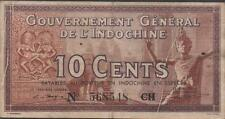 French Indo China 10 Cents Series CH Circulated Banknotes