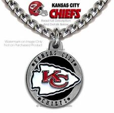 eb06e241bf5 LOUD PROUD KANSAS CITY CHIEFS NECKLACE - SPORTS FOOTBALL NFL - FREE SHIP   LG24