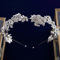 New Flower Brides Tiara Hairbands Bridal Crystal Headband Wedding Hair Accessory