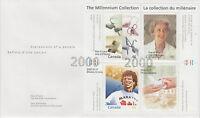 CANADA #1824 46¢ MILLENNIUM SOUVENIR SHEET - HEARTS OF GOLD FDC