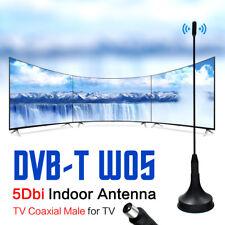 5dBi Indoor Gain Digital DVB-T/FM Freeview Aerial Antenna Amplifier for TV HDTV