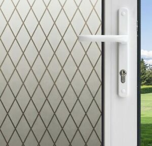 2set Gila 50188238 Frosted Lattice Decorative Privacy Control Static Cling 36x78