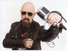 Rob Halford Judas Priest Signed Photo Genuine Obtained In Person Hologram COA