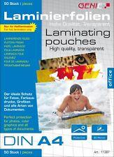 50 GENIE A4 Heiß Laminierfolien 80 Mic Laminiertaschen Laminiergerät 100 Set