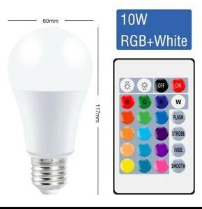 Ampoule Multi couleur Contrôle Intelligent Lampe Led RVB Lumière Dimmable 10W
