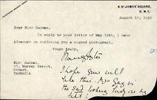 LADY NANCY ASTOR - TYPED LETTER SIGNED 08/18/1920