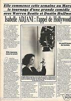 Coupure de presse Clipping 1985 Isabelle Adjani   (1 page)