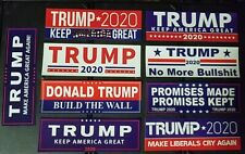 LOT OF 9 Donald Trump  Bumper Stickers KEEP AMERICA GREAT! MAGA Election 2020