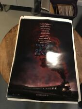 """MURDER ON THE ORIENT EXPRESS ***Original Movie Poster Double-Sided 27""""x40"""""""