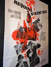 LES REQUINS VOLENT BAS Vince Edwards affiche cinema espionnage 1967