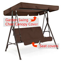 2/3 Seater Garden Swing Chair Canopy Replacement  Spare Seat Cover Waterproof