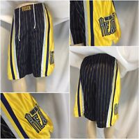 Grateful Dead Bay Area Heads Basketball Shorts L Blue Yellow Sewn YGI A9-142