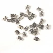 100 Fermoirs Boucles d'Oreilles Poussoirs Stoppeur Embouts  5mm x 4mm métal
