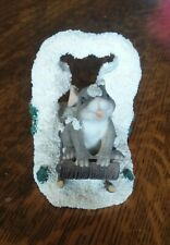 "Used Charming Tails ""Dashing Thru The Snow"" Figurine"
