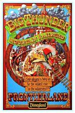 "VINTAGE DISNEY POSTER - BIG THUNDER MOUNTAIN - FRONTIERLAND 8.5"" x 11"""