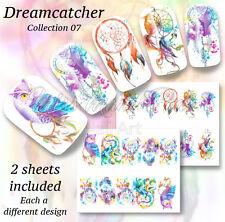 Dreamcatcher calcomanías de uñas de Agua Uñas Festival envuelve Pegatinas dreamcatchers BN303