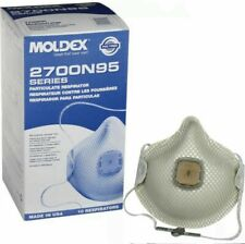 MOLDEX 2700 M/L PARTICULAR RESPIRATOR WITH VALVE BOX 10 EACH MADE IN USA