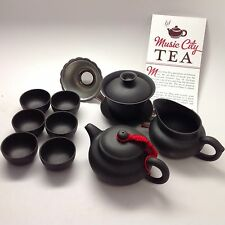 Yixing Tea Set 5oz With 9pcs Black Clay