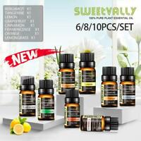 100% Pure Essential Oil Aromatherapy Top Set for Diffuser Humidifier Best Gifts