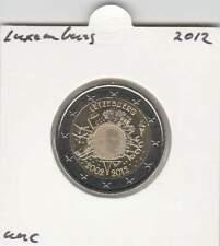 Luxemburg 2 euro 2012 UNC : 10 Jaar Euro munt