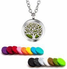 Essential Oil Diffuser Necklace Stainless Steel Aromatherapy Tree of Life