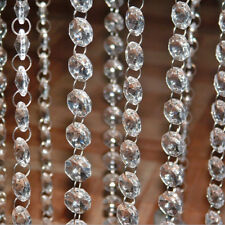 DIY Clear Acrylic Crystal Bead Garland Chandelier Hanging Wedding Party Supply