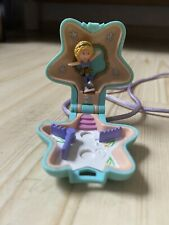 Polly Pocket Skating Star Locket Amulett Kette Schlittschuh Figur 90er Vintage