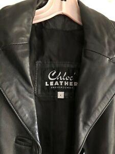 Chloe Black Leather Jacket