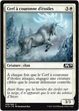 MTG Magic M19 - (x4) Star-Crowned Stag/Cerf à couronne d'étoiles, French/VF