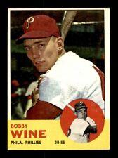 1963 Topps #71 BOBBY WINE EX *y6