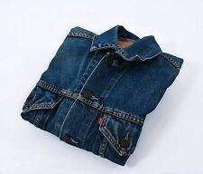 Levi's Strauss men denim jacket size M made in italy blue Authentic