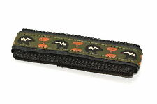 CHUMS THE BAND 14-16MM HOOK & LOOP BEAR PRINT ONE PIECE ACTION SPORT WATCH BAND