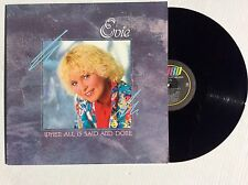 EVIE TORNQUIST KARLSSON When All Is Said and Done vinyl LP 1986 Word MINT