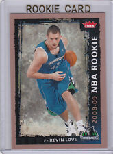 Kevin Love NBA ROOKIE CARD 2008/09 Fleer Basketball RC T-Wolves Cleveland Cavs!